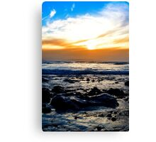 serene seas at rocky beal beach Canvas Print