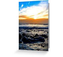 serene seas at rocky beal beach Greeting Card