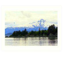 Snow-capped Mountain near Juneau Art Print