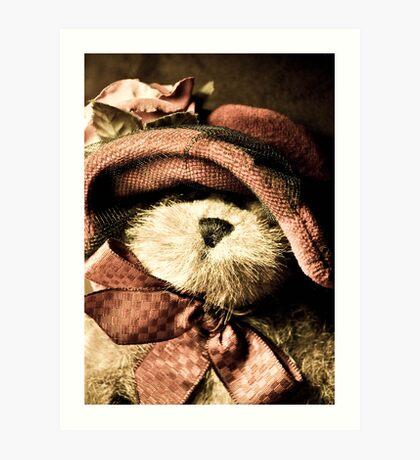 Vintage look teddy bear Art Print