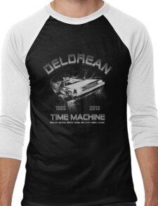 Delorean in Flight  Men's Baseball ¾ T-Shirt