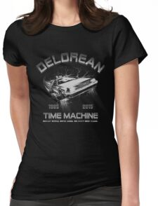 Delorean in Flight  Womens Fitted T-Shirt