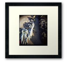 Beachy Winter Light Sand Framed Print