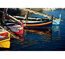Boats at  Collioure, France Photographic Print