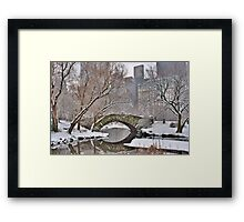 All the Trolls Are In Miami-Gapstow Bridge In Snow  New York City (HDR) Framed Print