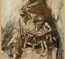 Siegfried & The Twilight of the Gods by Richard Wagner art Arthur Rackham 1911 0029 Mime and the Infant Siegfried by wetdryvac