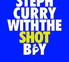 Steph Curry With The Shot Boy [With 3 Sign] White/Gold by OGedits