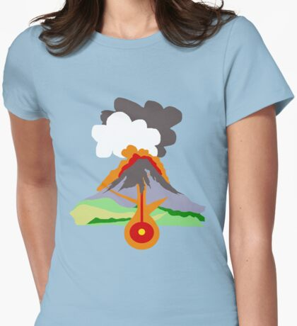 Volcano Womens Fitted T-Shirt