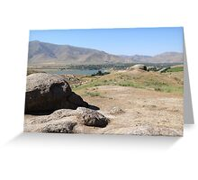 a historic Uzbekistan landscape Greeting Card