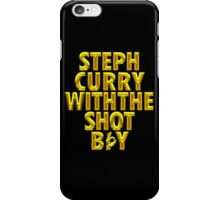 Steph Curry With The Shot Boy [With 3 Sign] Shiny Gold iPhone Case/Skin