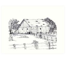 Marin county barn Art Print