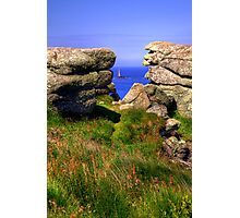 The Longships Lighthouse from Land's End Photographic Print