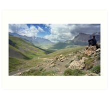 a large Uzbekistan landscape Art Print