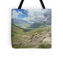 a large Uzbekistan landscape Tote Bag