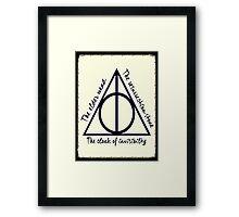 The Three Deathly Hallows Framed Print