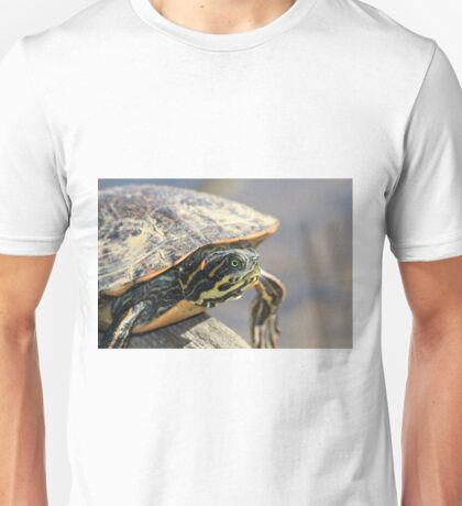 Turtle on a Log Unisex T-Shirt