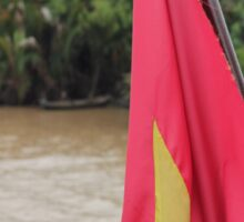 Vietnam Flag: Mekong River, South-East Asia Sticker