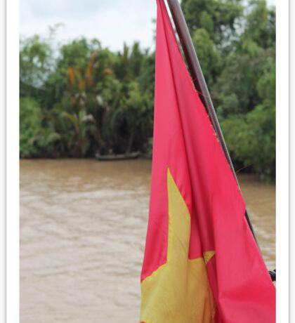 Vietnam Flag: Mekong River, South-East Asia Sticker