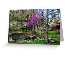 Arkansas Ozarks  ~  Spring Scenic Forest Redbud Greeting Card