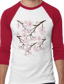 Sakura Blossoms Men's Baseball ¾ T-Shirt