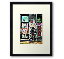 Another Page in NYC'S Sticker Book.  Framed Print