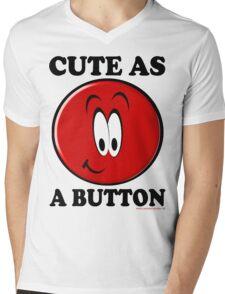 Cute as a Button T-Shirt Mens V-Neck T-Shirt