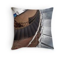 Heceta Lighthouse inside....Florence, Ore...Looking Up Throw Pillow