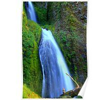 Wahkeena Falls - Columbia River Gorge Poster