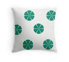 Green Lily on White Throw Pillow