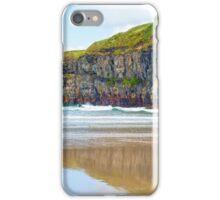 single kayaker near the cliffs of ballybunion iPhone Case/Skin