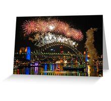 Sydney New Years Eve Fireworks 2009 - 2010 Sydney Harbour Bridge Greeting Card