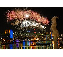 Sydney New Years Eve Fireworks 2009 - 2010 Sydney Harbour Bridge Photographic Print