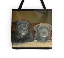 pit bull babies Tote Bag