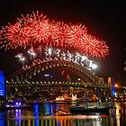 Sydney New Years Eve Fireworks 2009 - 2010 Sydney Harbour Bridge by DavidIori