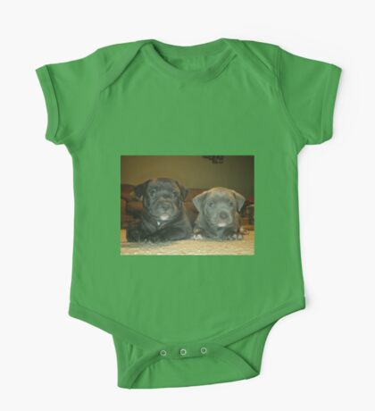 pit bull babies One Piece - Short Sleeve