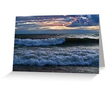 Breaking Waves - Erie, PA Greeting Card