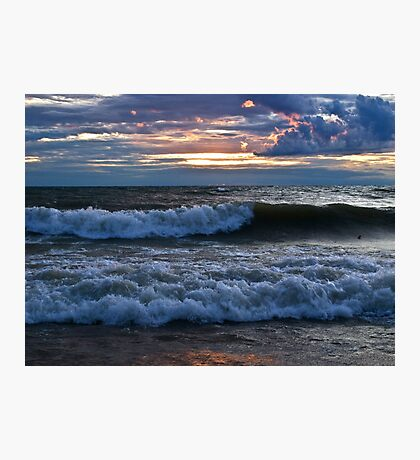 Breaking Waves - Erie, PA Photographic Print