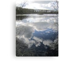 Mirror the Sky: Landscape in Water Canvas Print