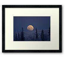 Blue Moon Over The Mat-Su  Framed Print