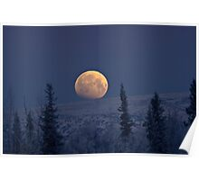 Blue Moon Over The Mat-Su  Poster