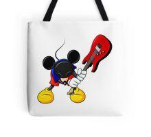 Mickey Mouse Smashing Guitar Tote Bag