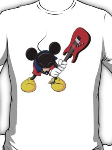 Mickey Mouse Smashing Guitar T-Shirt