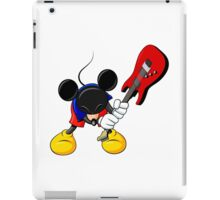 Mickey Mouse Smashing Guitar iPad Case/Skin