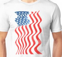 Fun Patriotic  USA Flag Design Unisex T-Shirt