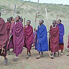 Maasai Men's Greeting, Northern Tanzania by Adrian Paul
