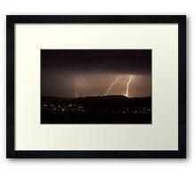 New Years Eve Lightning Framed Print