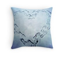Frozen Heart Throw Pillow