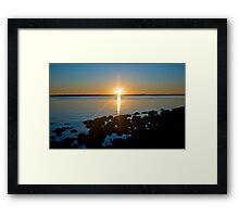Tampa Sunset Framed Print