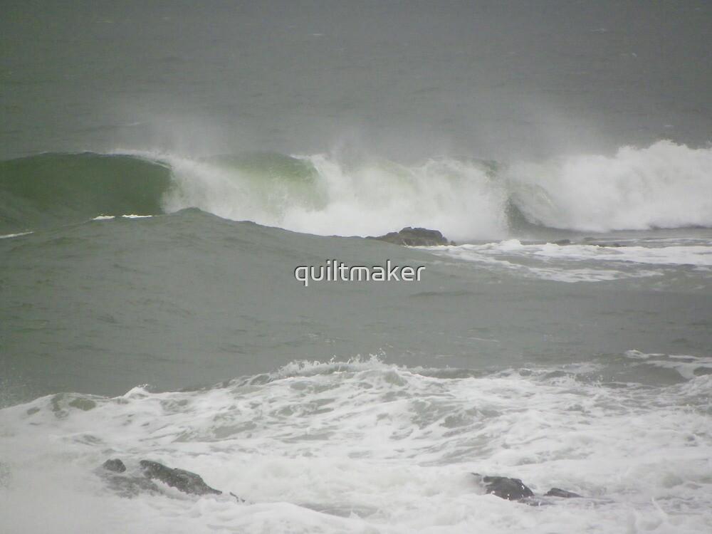 Kennebunk Beach in December by quiltmaker