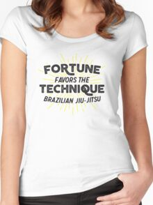 Fortune Favors the Technique Women's Fitted Scoop T-Shirt